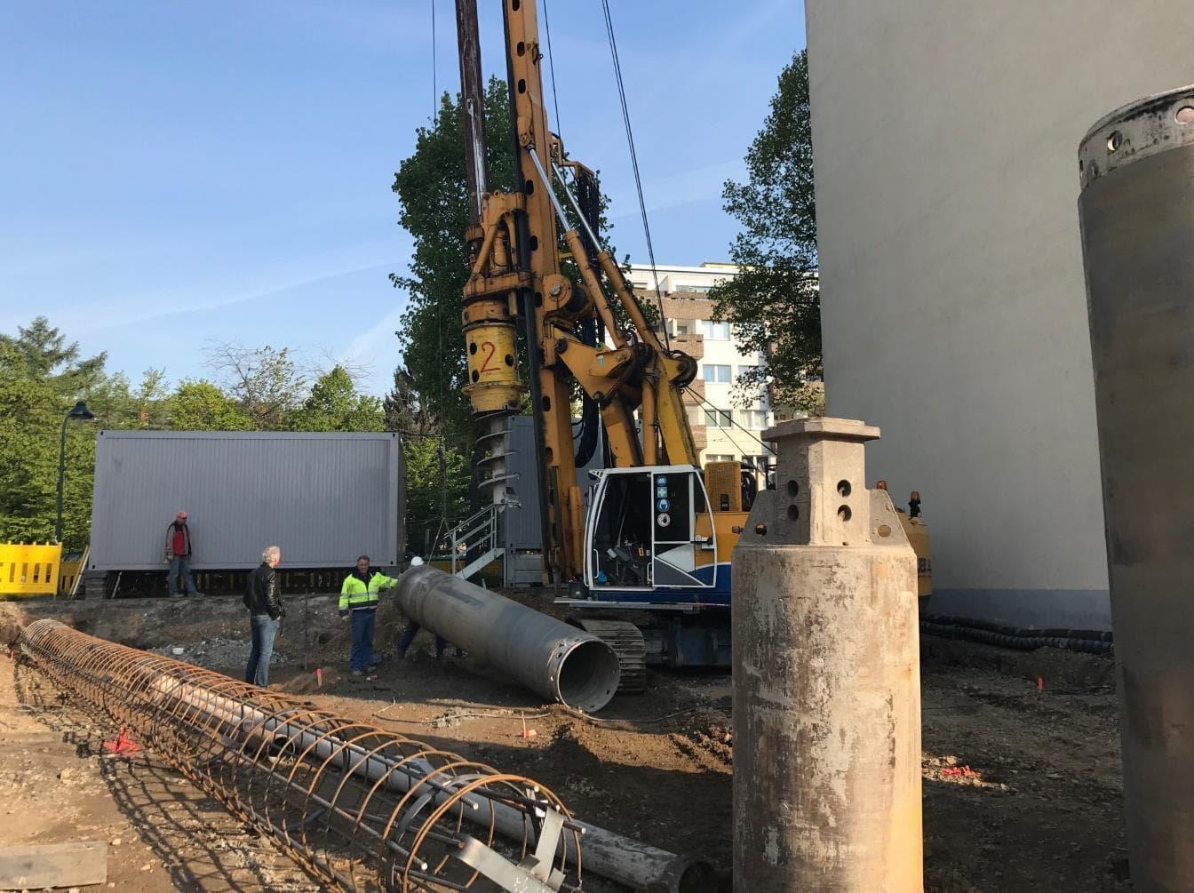 Bauarbeiten Studentenwohnheim Düsseldorf