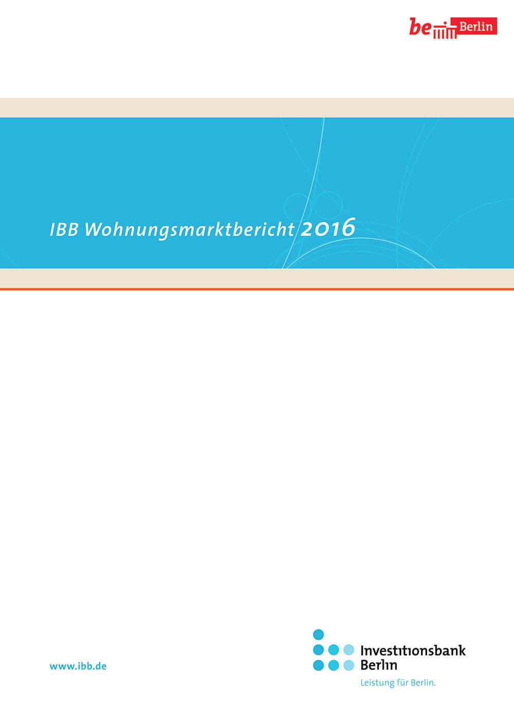 Cover IBB Wohnungsmarktbericht 2016