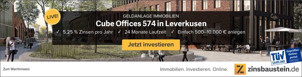 zinsbaustein.de - Crowdinvesting Immobilien - CUBE Offices 574