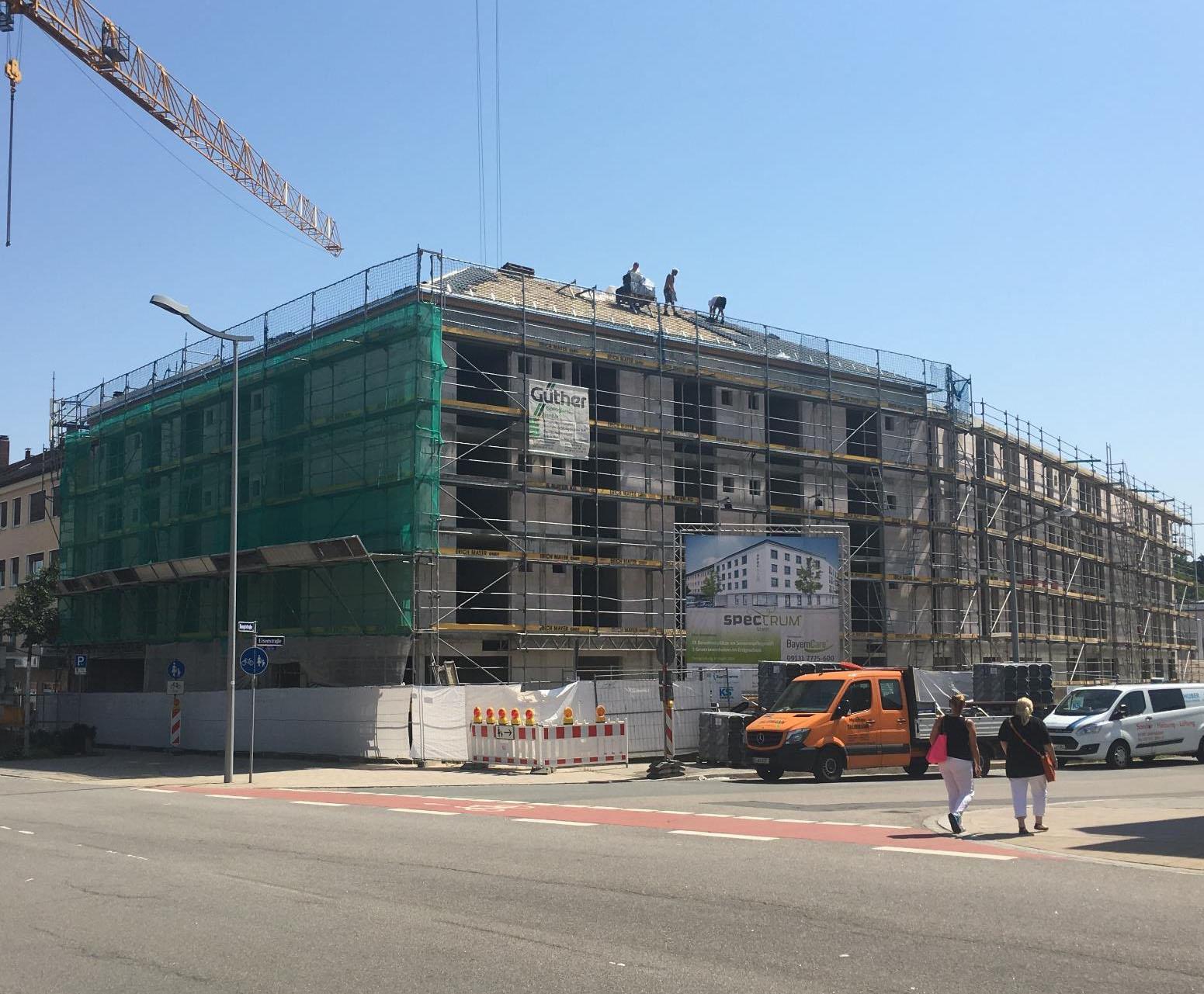 Baustellenbild Pflegezentrum Spektrum Stein