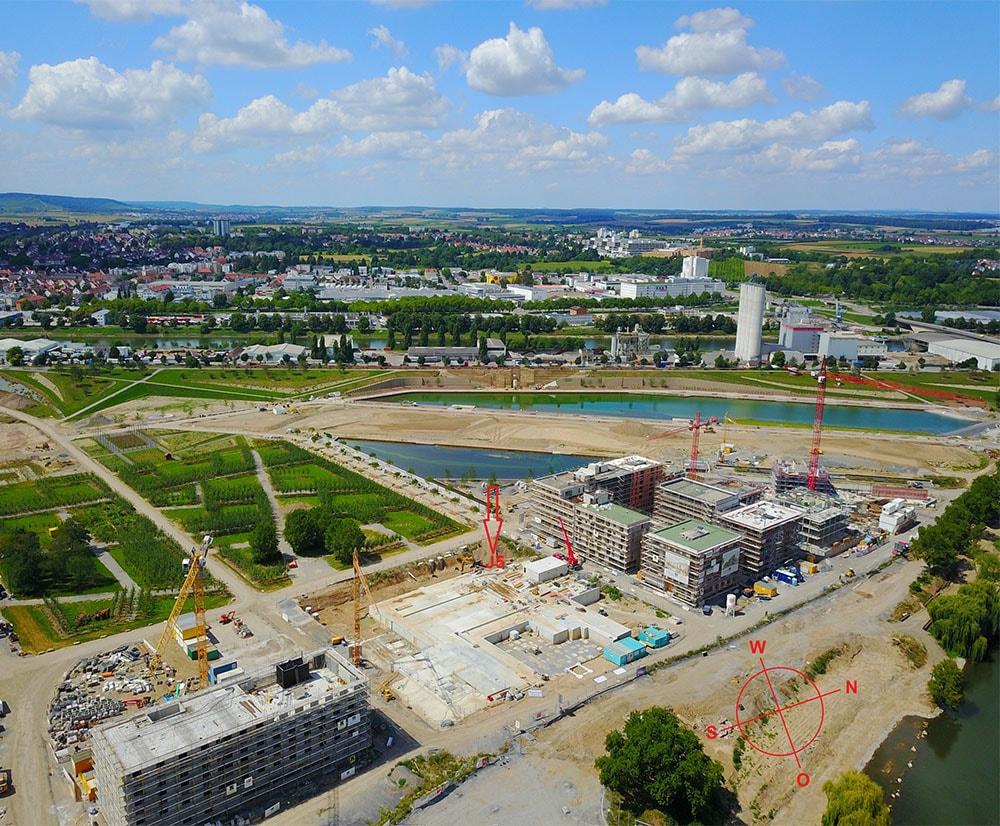 Baustellenbild Wohnen in Herzogenaurach
