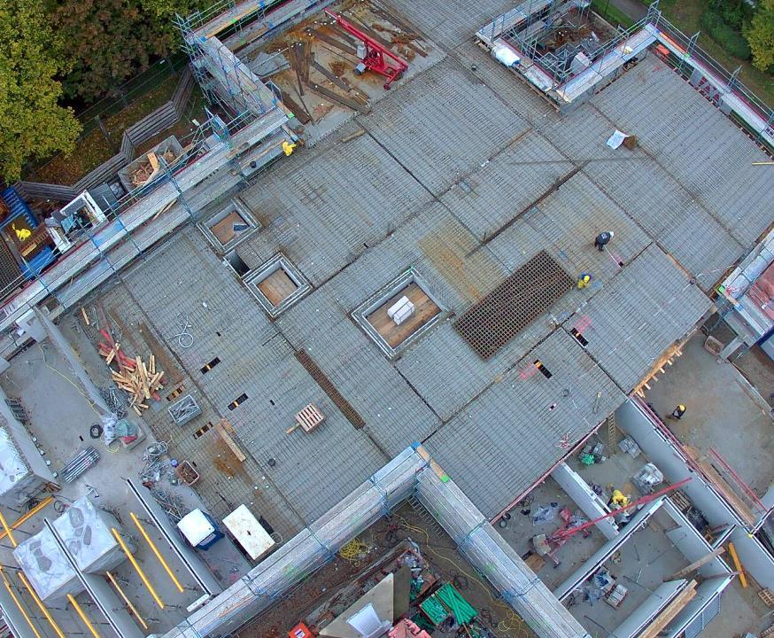 Baufortschritt Pflegezentrum PerlachStift