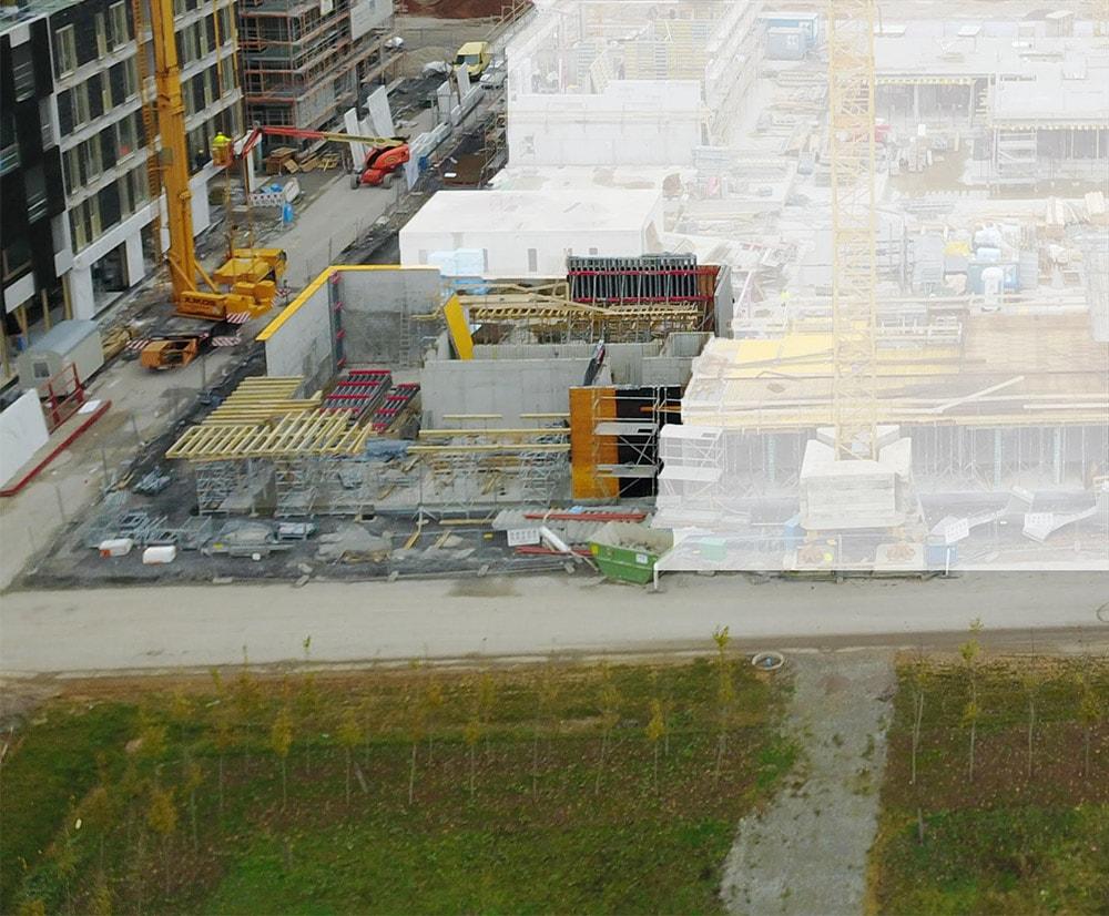Bautenstand Studentenapartments Heilbronn Januar 2018