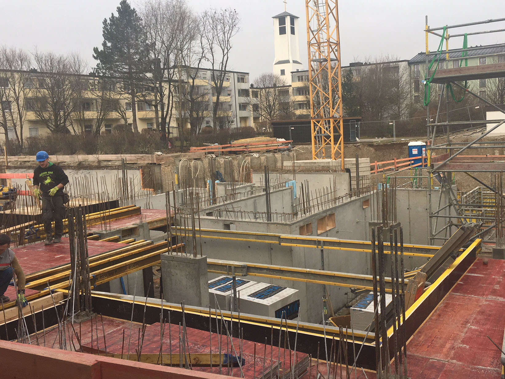 Baufortschritt Irma-Uhrbach-Carré Januar 2018