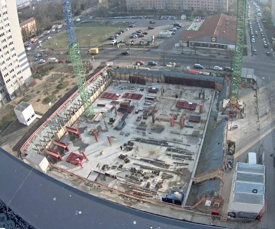 Baustellenbild Student Living II Februar 2018