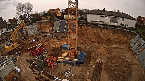 Baustellenbild Wohnen in Herzogenaurach Februar 2018