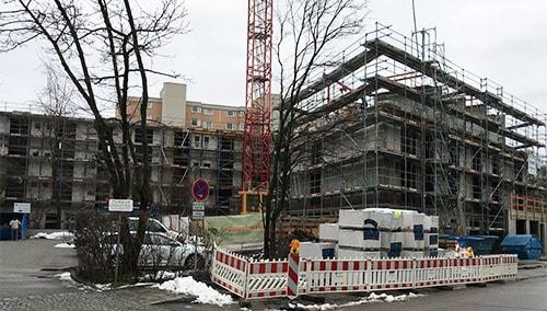 Baufortschritt Pflegezentrum PerlachStift Februar 2018