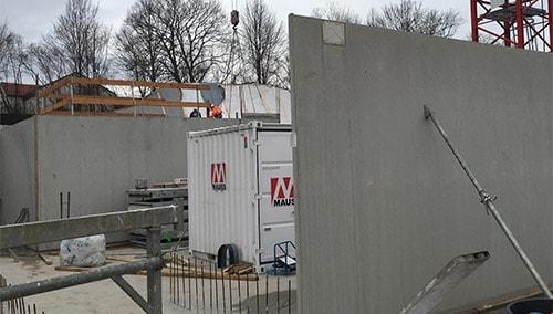 Baufortschritt Pflegezentrum Liebfrauenhaus Februar 2018