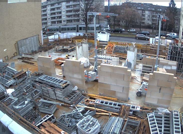 Bautenstand Studentenwohnheim Düsseldorf Februar 2018