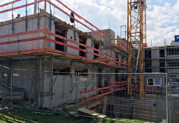 Baufortschritt Irma-Uhrbach-Carré April 2018 1