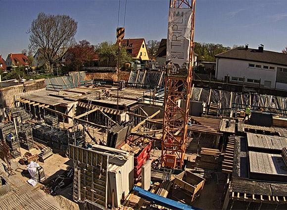 Baustellenbild Wohnen in Herzogenaurach April 2018