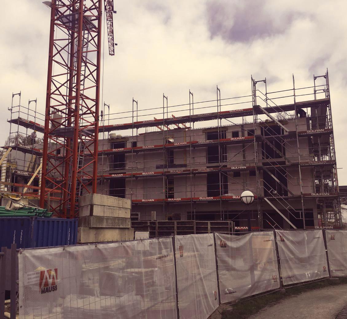 Baufortschritt Pflegezentrum Liebfrauenhaus April 2018