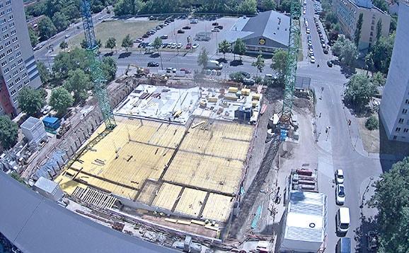Baustellenbild Student Living II Mai 2018