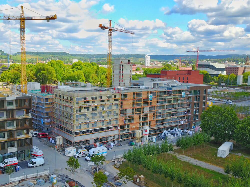 Baustelle Studentenapartments Heilbronn Juli 2018 3
