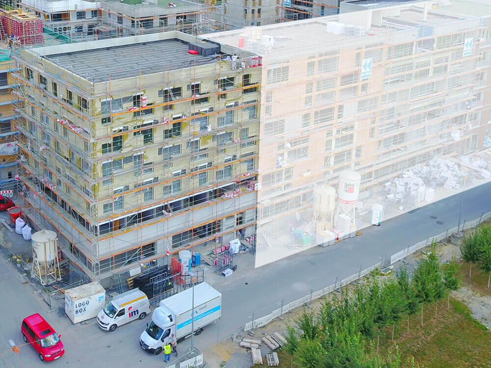 Baustelle Studentenapartments Heilbronn Juli 2018 1