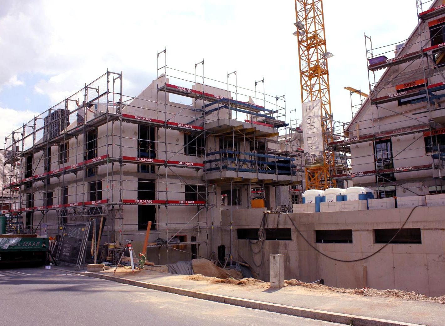 Rohbauten Wohnen in Herzogenaurach August 2018 2