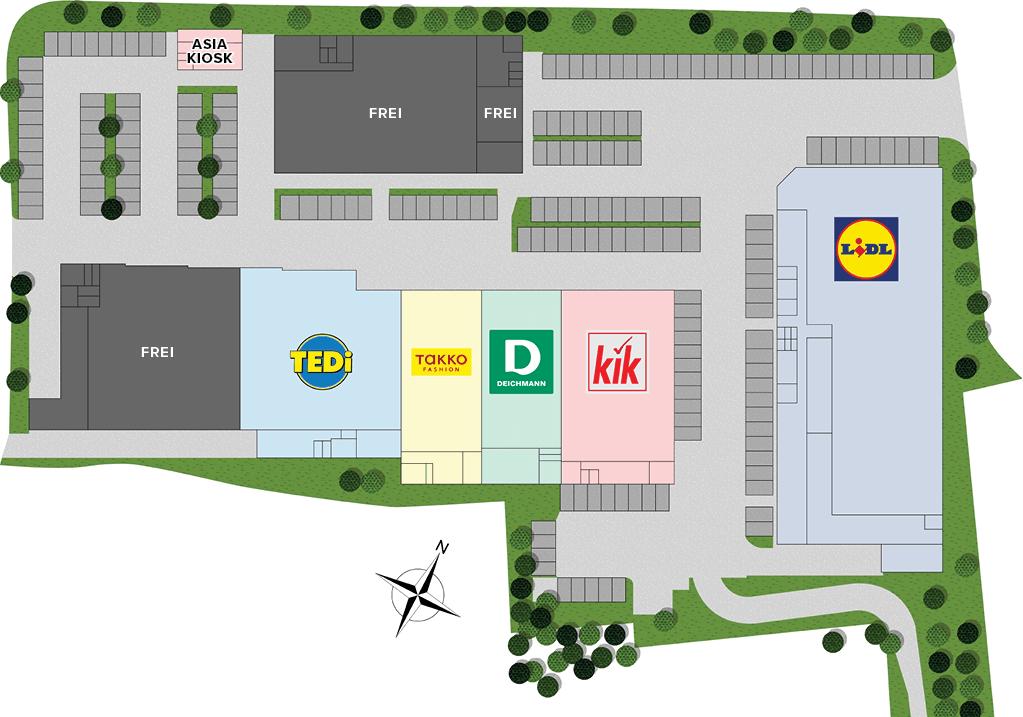 Flächeneinteilung Fachmarktzentrum Dannenberg