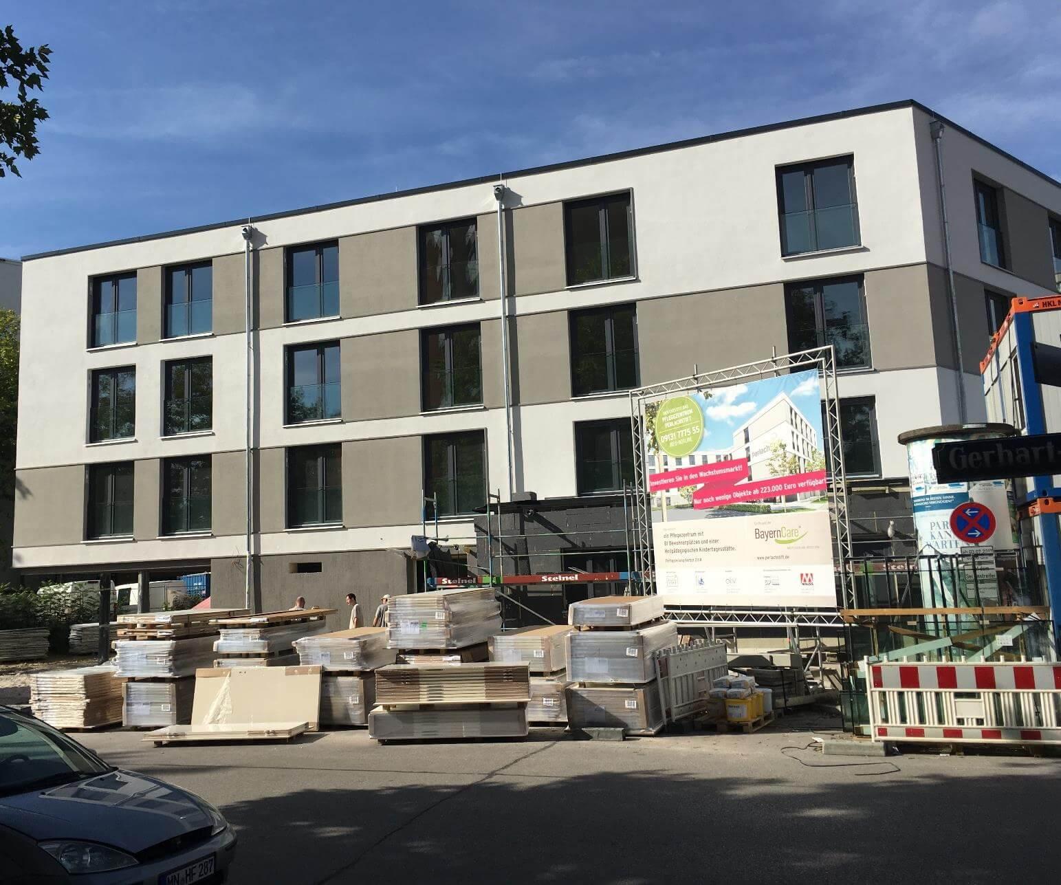Baufortschritt Pflegezentrum PerlachStift August 2018 2