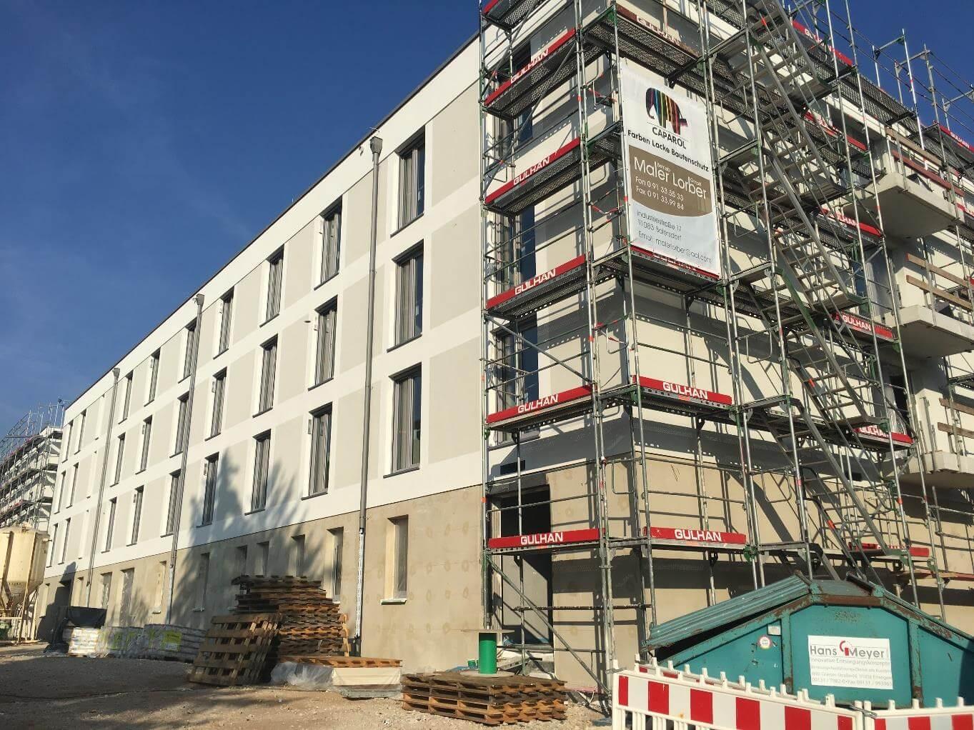 Baufortschritt Pflegezentrum Liebfrauenhaus Oktober 2018
