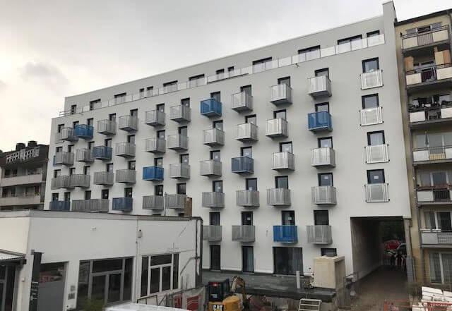 Außenansicht Studentenwohnheim Düsseldorf