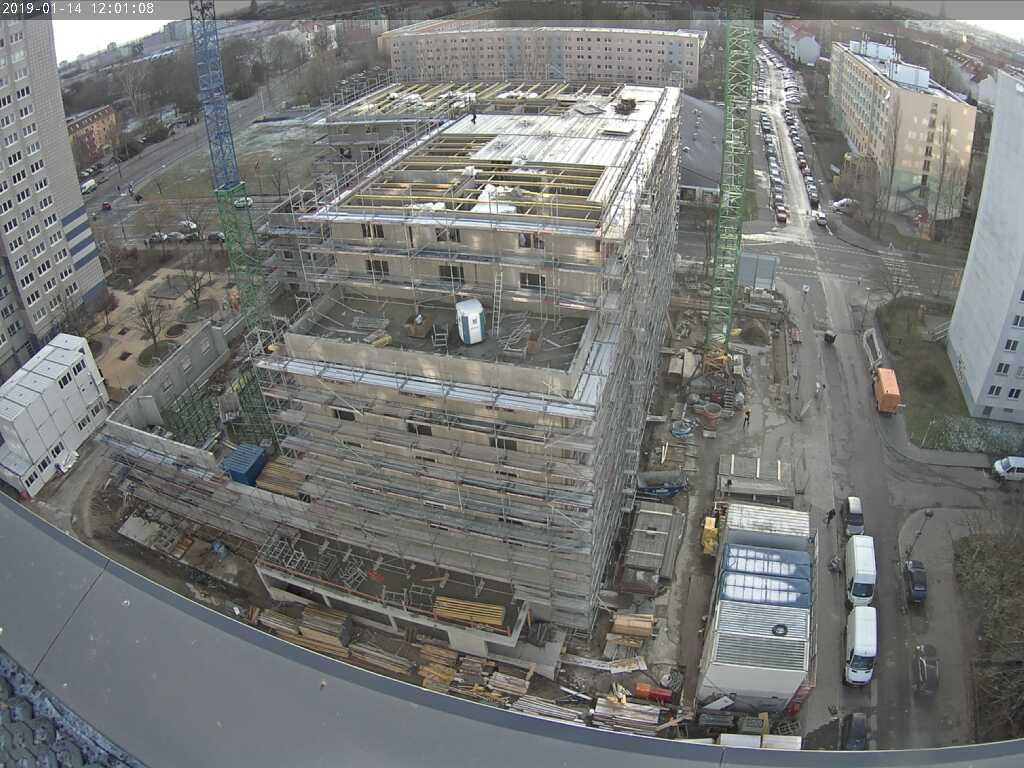 Baustellenbild Student Living II Januar 2019