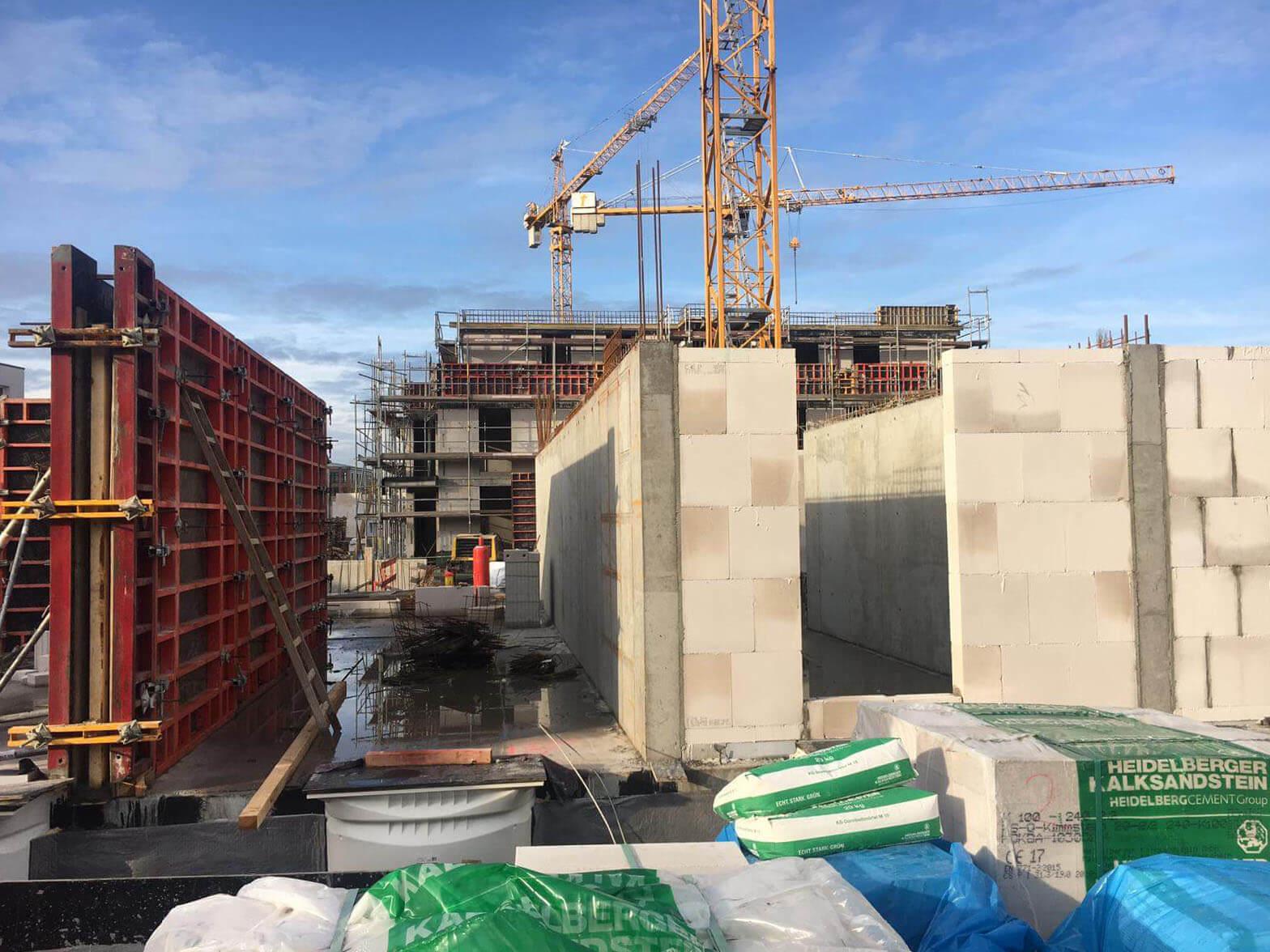 Baustellenbild Wohnen im Märchenviertel März 2019 1