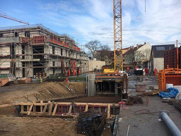 Baustellenbild Wohnen im Märchenviertel März 2019 4