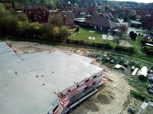 Baustelle Quartier am April 2
