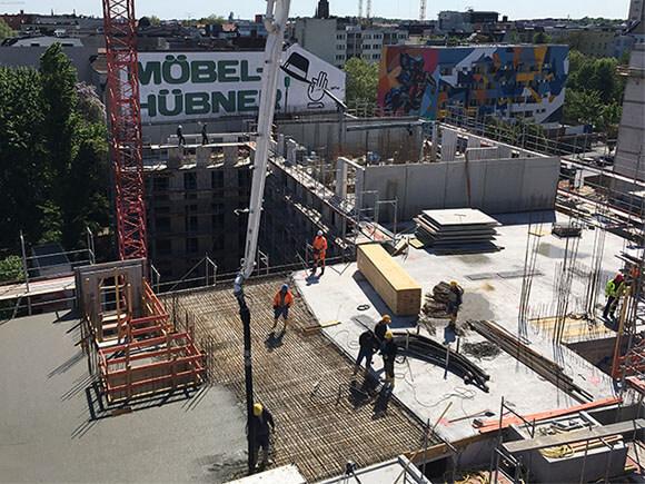 Baustelle SCHOENEGARTEN Februar 2019