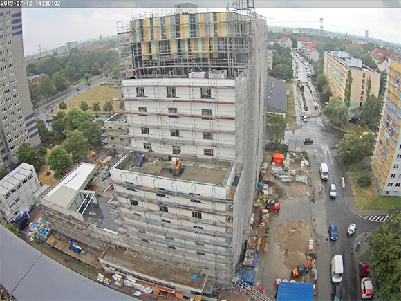 Baustellenbild Student Living II Juli 2019