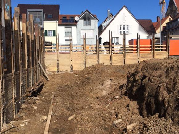 Baugrube Wohnen Am Hillerplatz