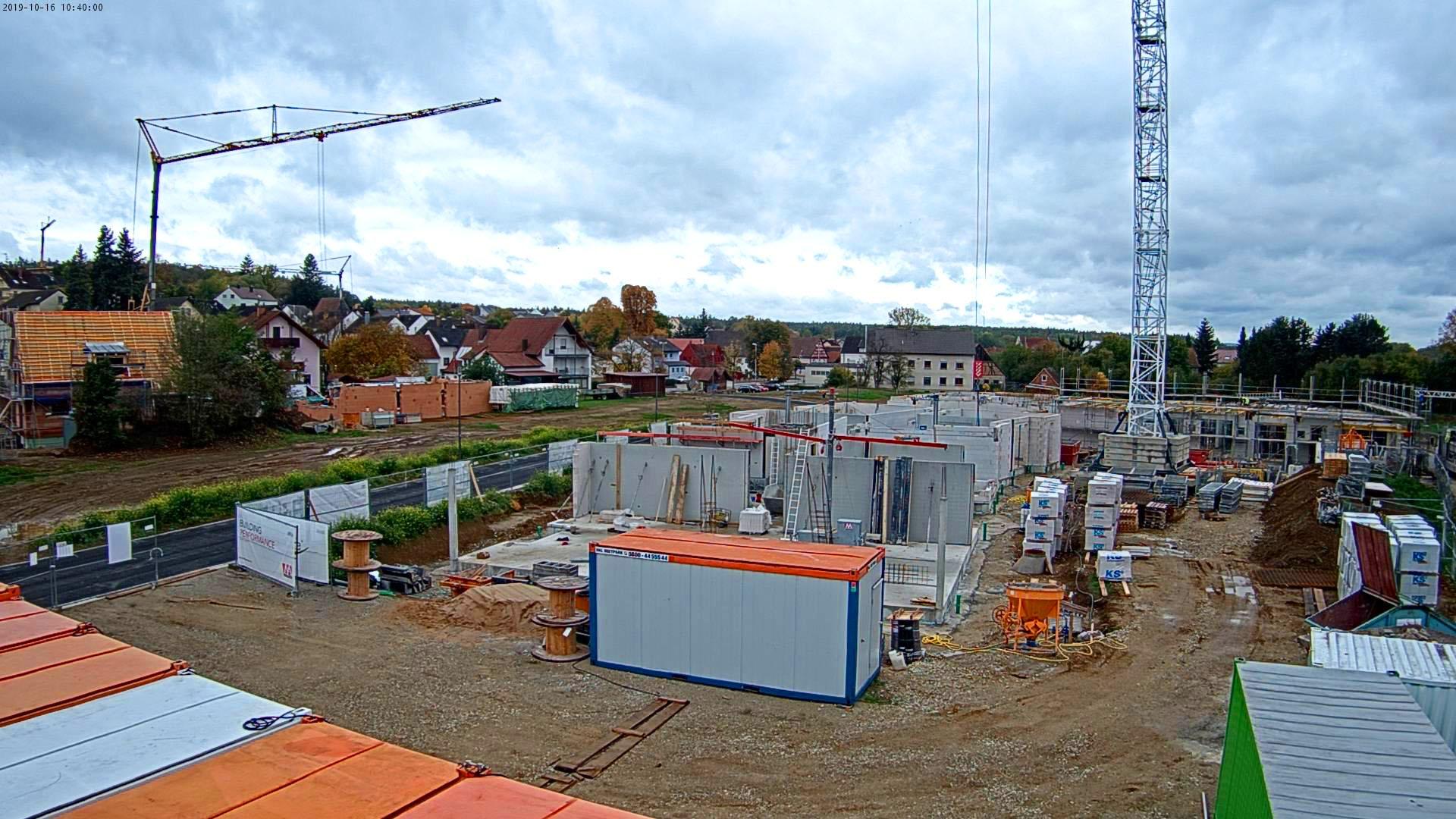Baustelle Ellernpark Oktober 2019