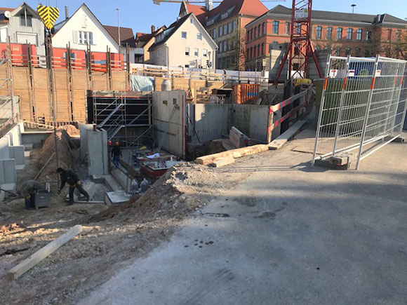 Baugrube Wohnen Am Hillerplatz April 2020