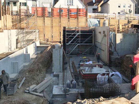 Baugrube Wohnen Am Hillerplatz April 2020 2