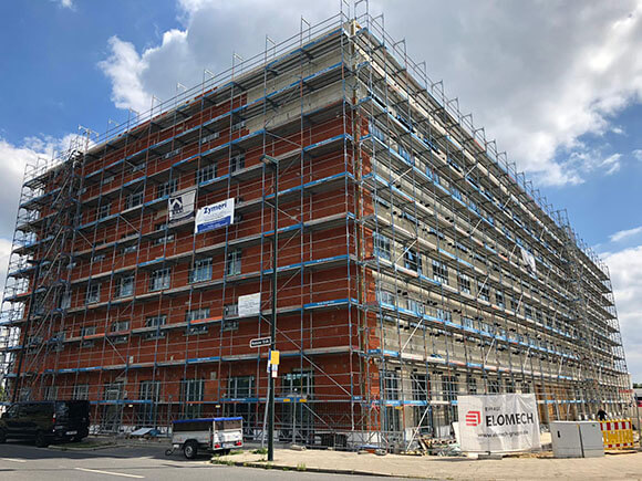 Fassadenarbeiten Novotel