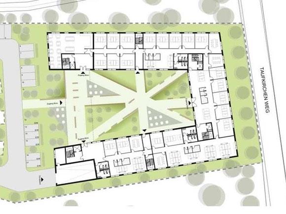 Entwurf Flächen Office Oberhaching