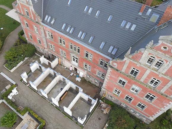 Luftbild Anbau Schloss Bernstorf