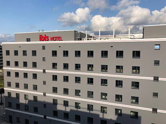 Fassade Ibis Hotel Düsseldorf