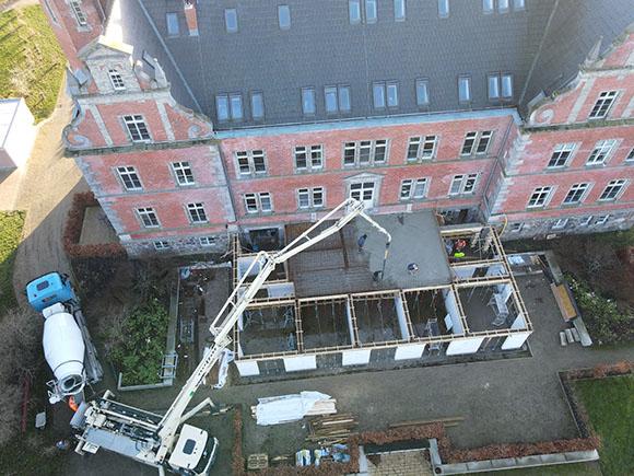 Luftansicht Anbau Schloss Bernstorf