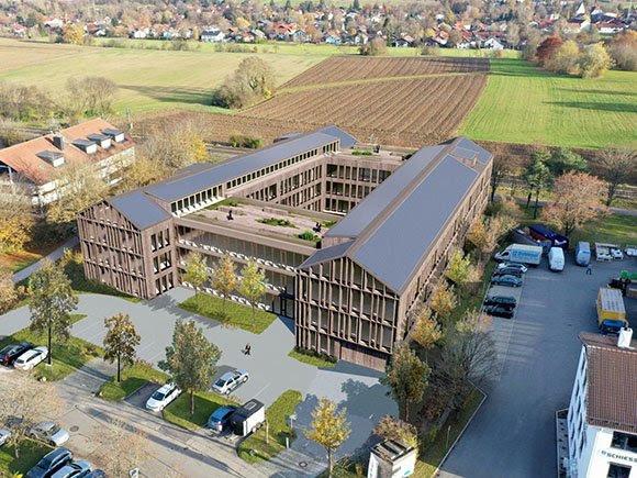 Neue Fassade Office Oberhaching