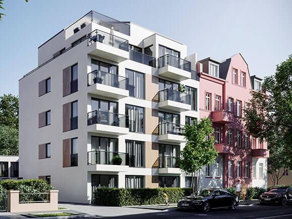 Rendering Fassade Sachsenstraße