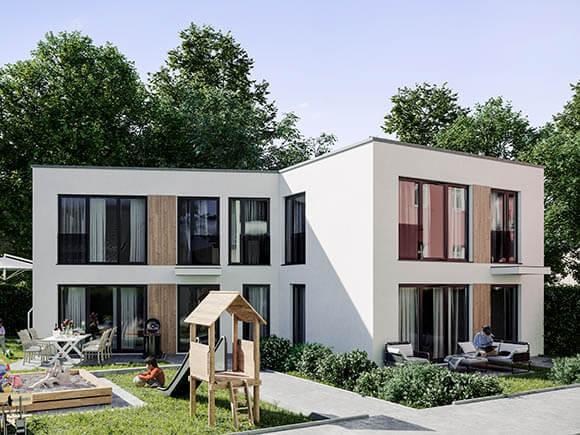 Rendering Hinterhof Sachsenstraße